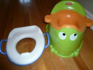 Potty Training Toilet Seat and Fisher Price Potty