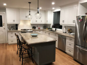 Baseboards Flooring Crown Moulding Cabinets Drywall and more !