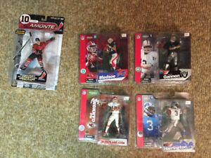 McFarlane Sports Figures NHL, NFL toys, toy, figure Lot 3