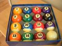 Billiards pool balls for sale