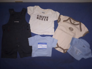 Baby Boy Calvin Klein Clothing Lot Size 0/3mts