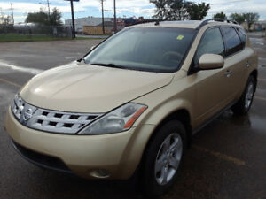 2004 NISSAN MURANO, INSPECTED AND SERVICED. BUY WITH CONFIDENCE!