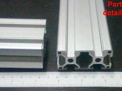 Aluminum T-slot Extruded Profile 30x60-8mm L100 200 300 400 Or 500mm -2pieces