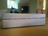 Pale Gold Single Bed and Mattress Set