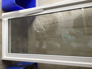 "30""x83"" tempered glass window"