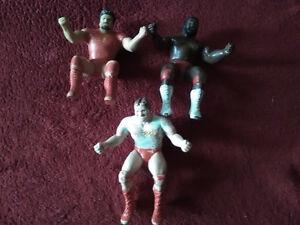 Variety of mini Wrestlers,thumb wrestlers, stamper wrestler...