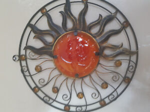Decorative metal Sun Moon piece