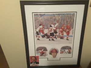 Sports Print 1972 Summit Series Canada  vs USSR