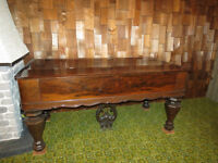 Piano table antique Woodward Brown