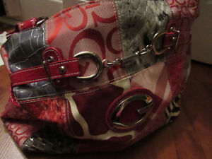 Women's Hand Bag (red, black, and white)