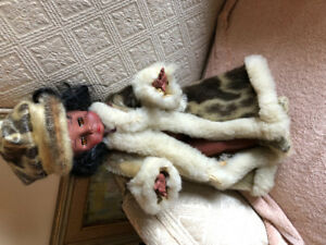 Child's vintage 1970s  real seal fur doll  RARE
