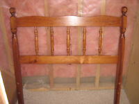 SOLID WOOD TWIN BED WITH MATTRESS! GREAT CONDITION!