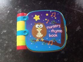 Musical nursery rhyme book