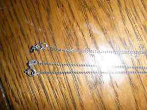 2 stamped sterling silver chains