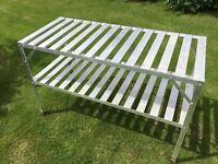 Aluminium greenhouse rack