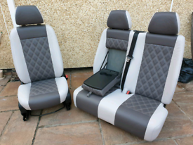 Mercedes Sprinter/VW Crafter Seats 2006-17 REAL LEATHER RETRIMMED