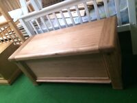 New solid oak blanket box chest