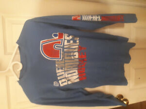 Quebec Nordiques size ladies small long sleeved shirt