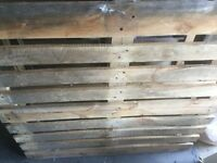 3 wooden pallets