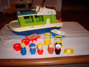FISHER PRICE HOUSEBOAT VINTAGE