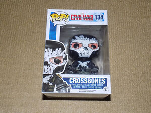 FUNKO, POP, CROSSBONES, VAULTED, CIVIL WAR, MARVEL #134, VINYL