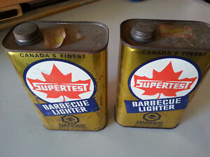 1960 supertest BBQ lighter fluid cans