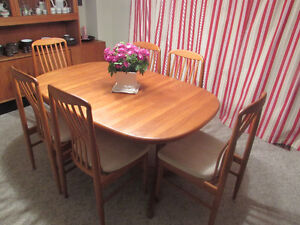 Teak Dining Table + Chairs