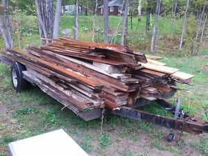 Carpenter's   Left Over Wood and trailer