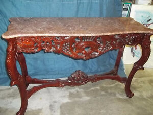 CHINESE STYLE MARBLE TOP CONSOLE TABLE FOR SALE(CASH)