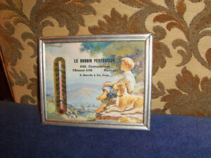 LE BOUDIN PERFECTION-1940/50S THERMOMETER AD FRAME-MAINVILLE-MTL