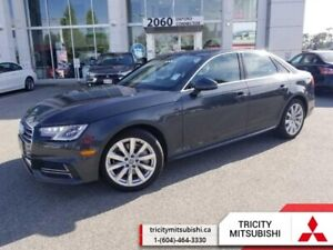 2018 Audi A4 Sedan 2.0 TFSI quattro Komfort  HEATED LEATHER-SUNR