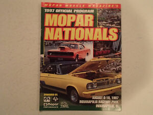 1997 OFFICIAL MOPAR NATIONALS PROGRAM AT INDIANAPOLIS RACEWAY PA