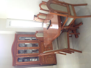 SELLING DINING TABLE + CHINA CABINET