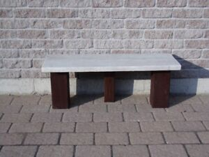BENCH   (Navajo white and brown)