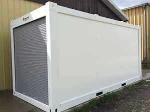 Strong-Stor mobile storage units ~ roll door, steel-framed