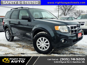 2008 Ford Escape XLT | NEW TIRES | 192Km | SAFETY & E-TESTED