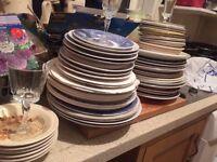 Vintage retro plates