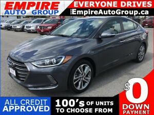 2017 HYUNDAI ELANTRA LIMITED * LEATHER * REAR CAM * NAV * BLUETO