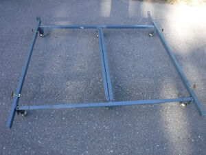 king to queen heavy duty, commercial grade metal bed frame Cambridge Kitchener Area image 1