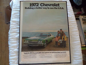 OLD CHEVY CLASSIC CAR ADS Windsor Region Ontario image 1
