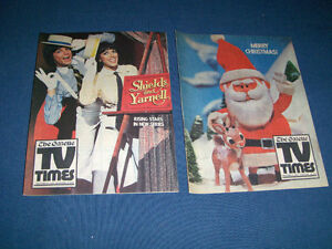 TV TIMES-MONTREAL GAZETTE-2 ISSUES-1977/78-SHIELDS & YARNELL+