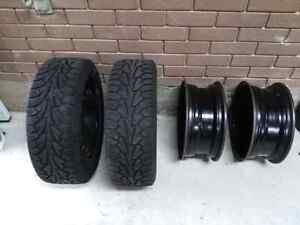 4 Steel Winter Rims (2 with newer tires)