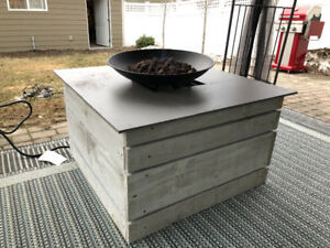 Back yard fire table