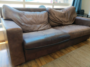 Vintage leather couch - quick sale