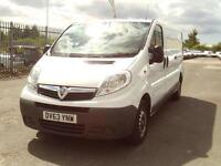 Vauxhall Vivaro 2900 2.0cdti lwb Flat Roof 115ps DIESEL MANUAL WHITE (2013)