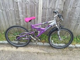Raleigh Ladies Full Suspension Bike. Serviced. Free Lock/Lights/Delivery.