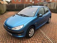 2002 Peugeot 206 2.0HDi 90 ( dig a/c ) GLX - 13 SERVICES STAMPS