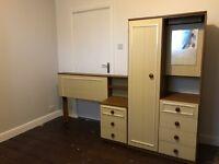 2 wardrobes and single headboard set
