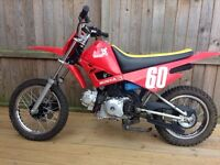 Pit dirt field off-road trials bike . Four speed auto . £ 375