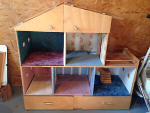 Wooden Hand Made/Crafted Doll/Barbie House
